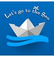 Travel design wih a white paper ship vector image