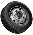 Truck fore wheel vector image