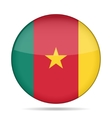 Flag of Cameroon Shiny round button vector image