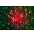 flat red and green geometric rectangle background vector image