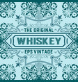 vintage label design for whiskey and wine label vector image