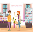 perfume shop composition vector image