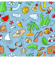 doodle summer seamless vector image vector image