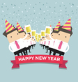 Businessman happy newyear party vector image