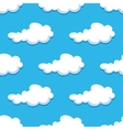 Seamless background with cute cartoon clouds vector image vector image