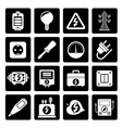 Black Electricity power and energy icons vector image