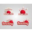 bowling realistic theme set eps 10 vector image