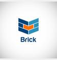 brick building company logo vector image
