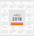 calendar 2018 spanish version vector image