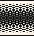 halftone seamless pattern with rhombuses diamond vector image