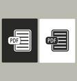 pdf - icon vector image