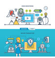 technology business monitoring transaction vector image