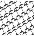 tree palm beach pattern vector image