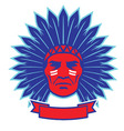 indian chief mascot vector image vector image