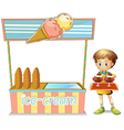 Ice Cream Cart vector image vector image