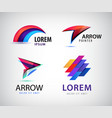 set of abstract 3d colorful logos vector image