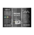black template brochure business cool design for vector image