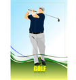 al 0204 golfer vector image vector image