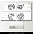Set of business card templates vector image