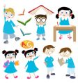 students cartoon vector image vector image
