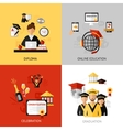 Graduation Design Concept Set vector image