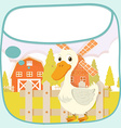 Paper design with duck on the farm vector image vector image
