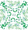 Abstract Floral Green Background vector image