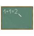 blackboard sum vector image