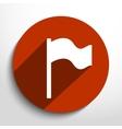 flag web icon vector image