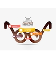 Hipster glasses infographic concept vector image