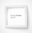 White square 3d photo frame with shadow vector image vector image