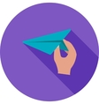 Holding Paper Plane vector image