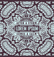 vintage label premium with wallpaper vector image