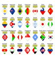 icons of flags vector image