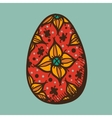 Easter egg with pattern vector image