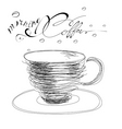 morning coffee vector image vector image