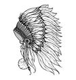 Doodle Headdress For Indian Chief vector image vector image