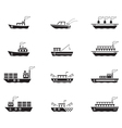 icon boats vector image