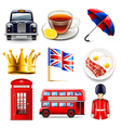 England icons set vector image vector image