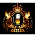 menu design with beer vector image vector image