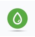 Water drop icon Natural aqua sign vector image