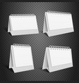 blank desk paper calendar empty folded envelope vector image