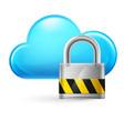 cloud computing and padlock on white vector image