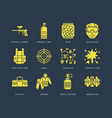 paintball game line icons extreme leisure vector image