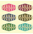 set of vintage ice cream labels vector image