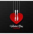 Valentines Day Menu logo design Background vector image