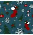Seamless winter pattern Christmas background vector image