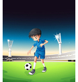 Boy Playing Soccer vector image vector image
