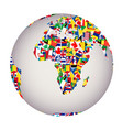 globalization concept with earth globe and all vector image vector image