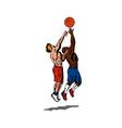 Basketball Player Rebounding vector image